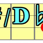 【コード一覧表】ルートがC#(ド)&D♭(レ)の構成音を覚えよう